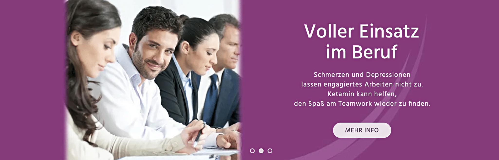 Individuelle Therapie mit Ketamin zur Behandlung von Schmerzen und Depressionen. Praxis Dr. Mathers · Köln, Germany